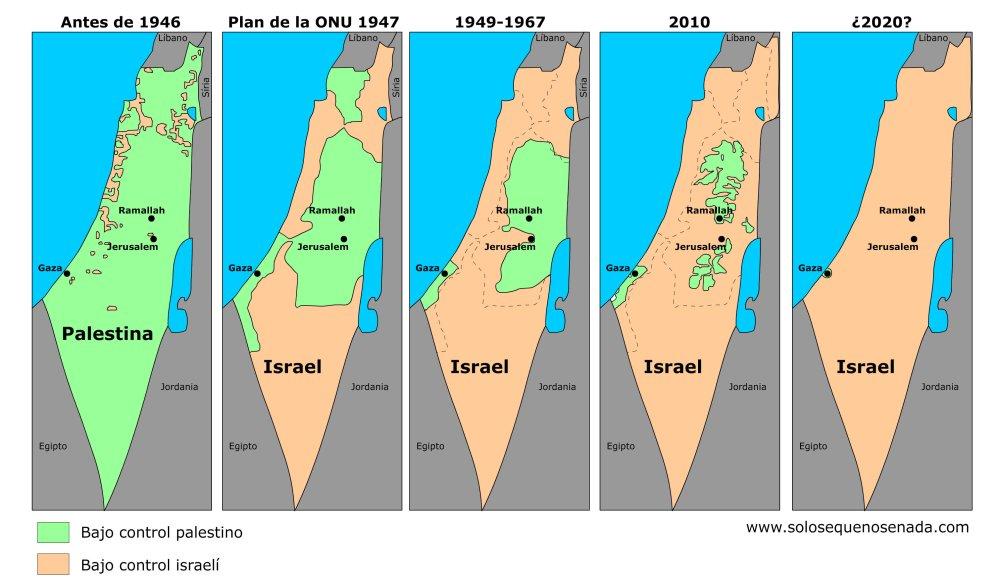 Ya poca Palestina queda: Paso a paso, Israel la está borrando del mapa