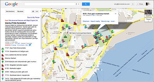 Taksim, mapa situación policías