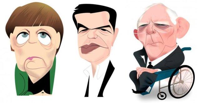 Merkel, Tsipras y Shauble