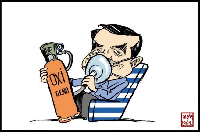 Tsipras, oxígeno